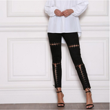 "LoveMe™ Collection - ""Fierce"" Suede Slim Lace Up Leggings"