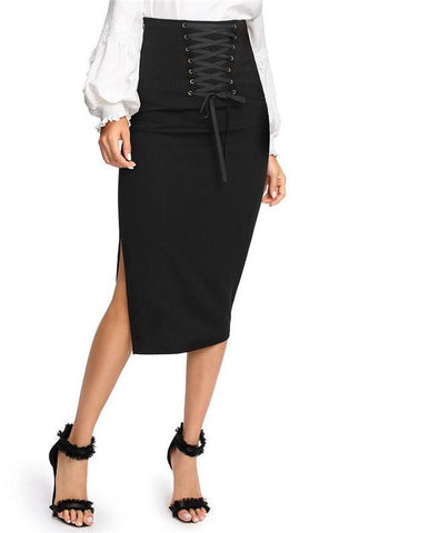f65e56c13 Sassy Spring Lace-Up Pencil Skirt – WildNChic