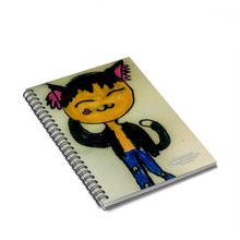 Load image into Gallery viewer, Cool Kitty Spiral Notebook - Ruled Line