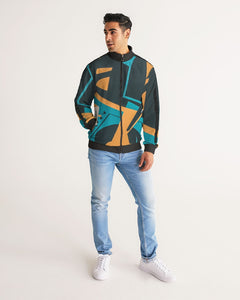 B.E Tour Paris Men's Stripe-Sleeve Track Jacket