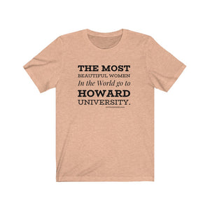 Howard Women Unisex Jersey Short Sleeve Tee