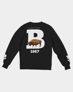 Bison House Men's Classic French Terry Crewneck Pullover