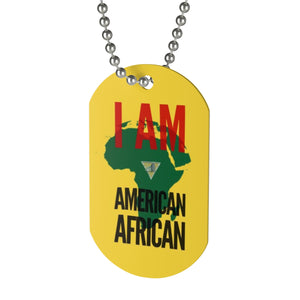 AMERICAN AFRICAN Dog Tag