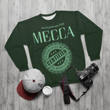 "Load image into Gallery viewer, ""MECCA CERTIFIED"" AOP Unisex Sweatshirt"