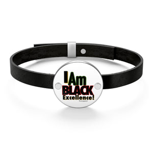 I Am B.E Leather Bracelet