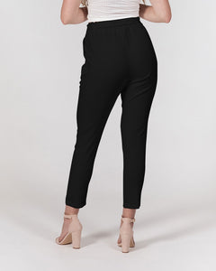 I Am Black Excellence Women's Belted Tapered Pants