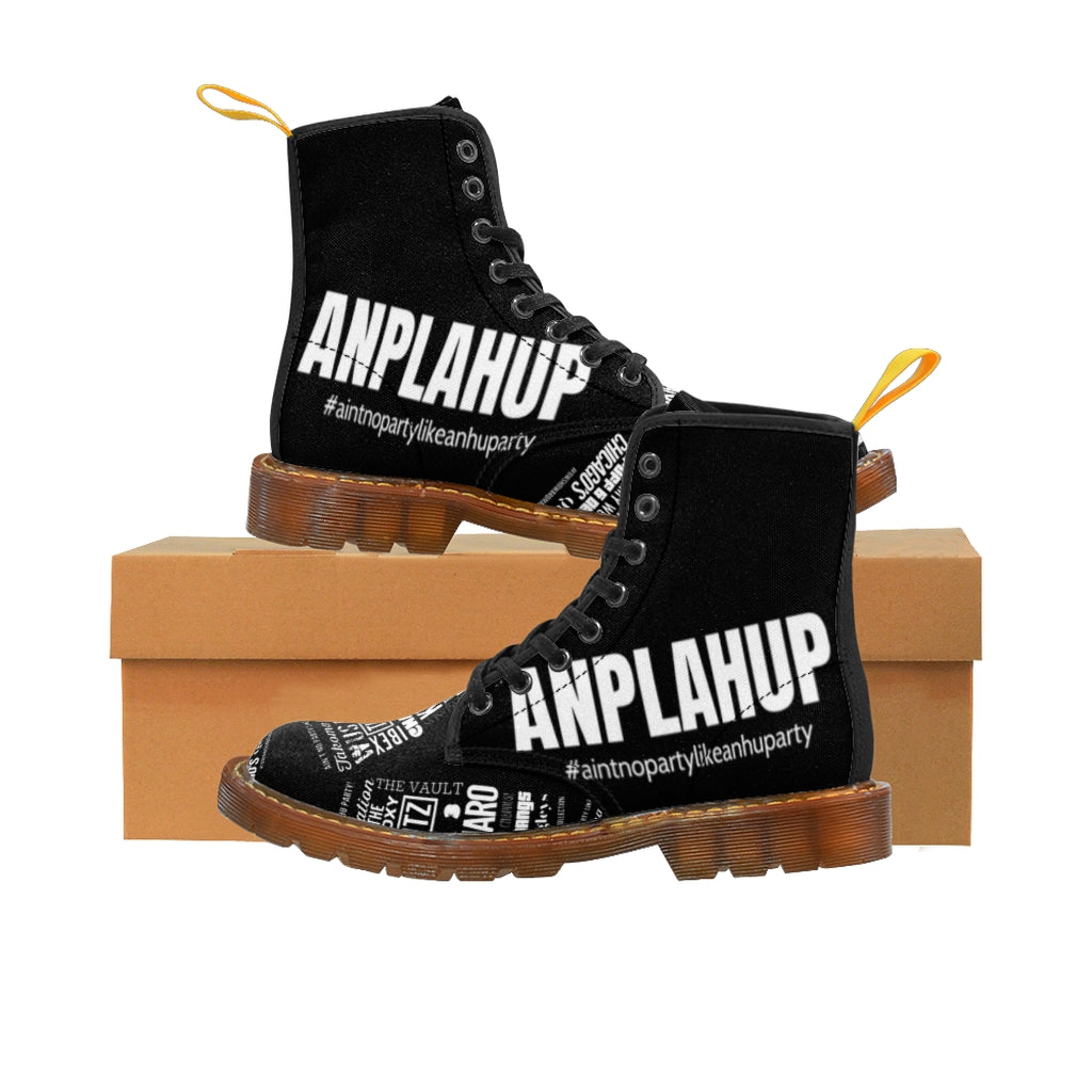 """ANPLAHUP"" Men's Canvas Boots"