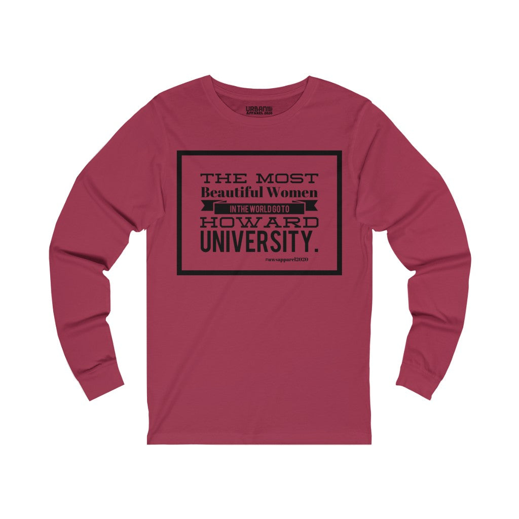 """HOWARD WOMEN"" Unisex Jersey Long Sleeve Tee"