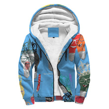 Load image into Gallery viewer, Genius Child AOP Sherpa Hoodie