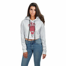 Load image into Gallery viewer, GC LE AOP CROP TOP HOODIE