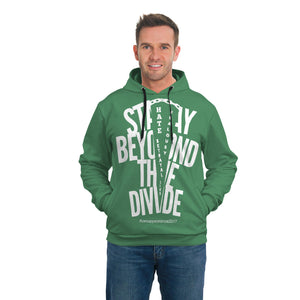 STAY BEYOND THE DIVIDE AOP SIDE POCKET HOODIE
