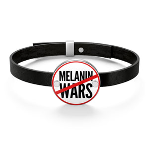 No Melanin Wars Leather Bracelet