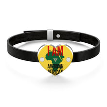 Load image into Gallery viewer, American African Leather Bracelet