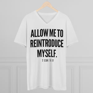 """Allow Me To Reintroduce Myself"" Men's Lightweight V-Neck Tee"