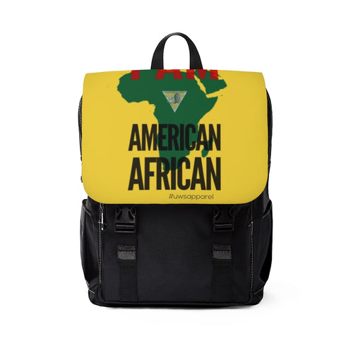 American African Unisex Casual Shoulder Backpack