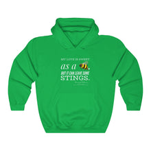 "Load image into Gallery viewer, ""...Sweet, but Stings"" Unisex Heavy Blend™ Hooded Sweatshirt"