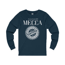 "Load image into Gallery viewer, ""MECCA CERTIFIED"" Unisex Jersey Long Sleeve Tee"