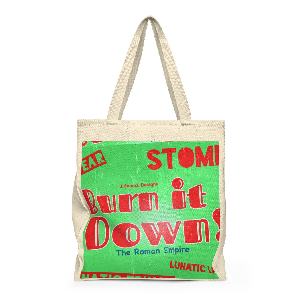 """Burn It Down"" Shoulder Tote Bag - Roomy"