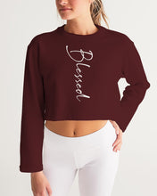 "Load image into Gallery viewer, ""Blessed"" Women's Cropped Sweatshirt"