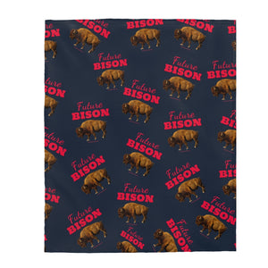 Future Bison Velveteen Plush Blanket