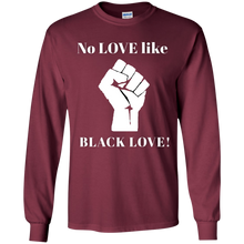 Load image into Gallery viewer, BLACK LOVE Gildan Youth LS T-Shirt