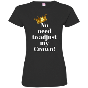 NO NEED TO ADJUST MY CROWN Ladies' Fine Jersey T-Shirt