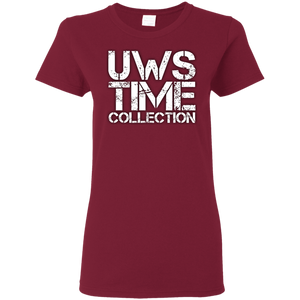 UWS Time Collection logo! White print Ladies T-Shirt