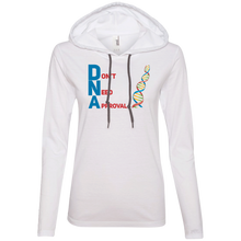 Load image into Gallery viewer, DNA - Don't Need Approval Ladies' LS T-Shirt Hoodie