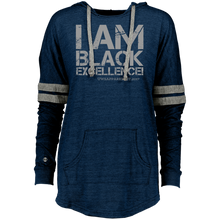 Load image into Gallery viewer, I AM BLACK EXCELLENCE Ladies Hooded Low Key Pullover