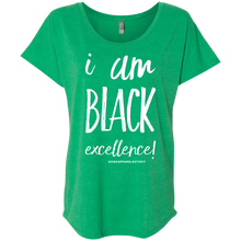 Load image into Gallery viewer, I AM BLACK EXCELLENCE Ladies' Triblend Dolman Sleeve