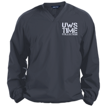 Load image into Gallery viewer, UWS TIME COLLECTION (White print) Pullover V-Neck Windshirt