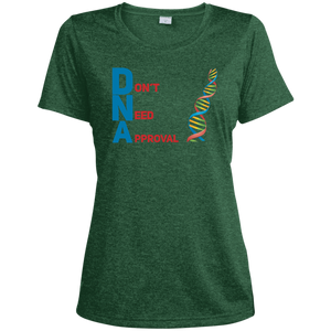 DNA - Don't Need Approval Ladies' Heather Dri-Fit Moisture-Wicking T-Shirt