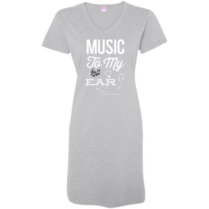 """Music To My Ear..."" Ladies' V-Neck Fine Jersey Cover-Up"