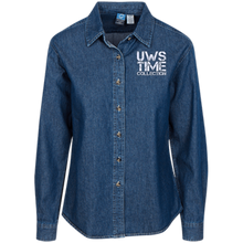 Load image into Gallery viewer, UWS TIME COLLECTION Ladies' LS Denim Shirt