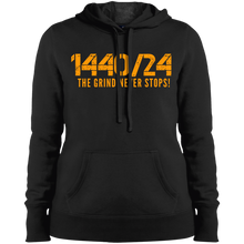 Load image into Gallery viewer, 1440/24 White/Orange Ladies' Pullover Hooded Sweatshirt