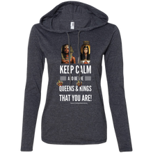 Load image into Gallery viewer, Keep Calm... Ladies' LS T-Shirt Hoodie