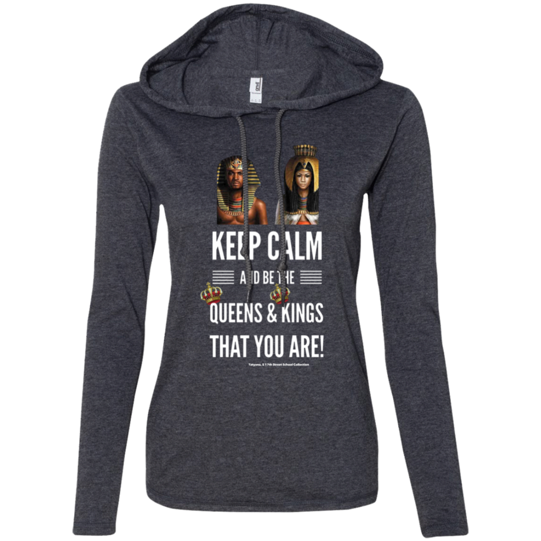 Keep Calm... Ladies' LS T-Shirt Hoodie