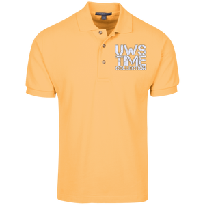 UWS TIME COLLECTION logo (white print) Port Authority Cotton Pique Knit Polo