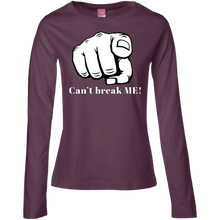 Load image into Gallery viewer, YOU CAN'T BREAK ME Ladies' LS Cotton T-Shirt
