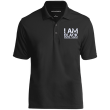 Load image into Gallery viewer, I AM BLACK EXCELLENCE UV Micro-Mesh Polo