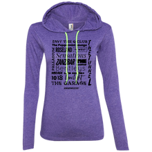 Load image into Gallery viewer, NYC 90s CLUB LIFE Ladies' LS T-Shirt Hoodie