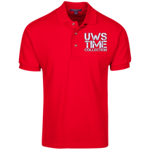 Load image into Gallery viewer, UWS TIME COLLECTION logo (white print) Port Authority Cotton Pique Knit Polo