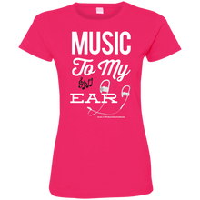 "Load image into Gallery viewer, ""Music To My Ear..."" Ladies' Fine Jersey T-Shirt"