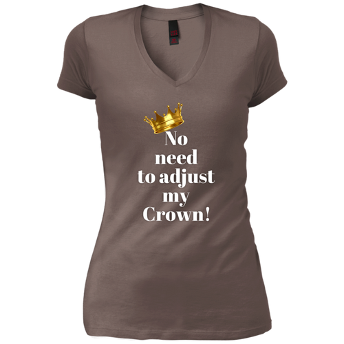 NO NEED TO ADJUST MY CROWN Vintage Wash V-Neck T-Shirt