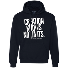 "Load image into Gallery viewer, ""Creation Knows No Limits"" Heavyweight Pullover Fleece Sweatshirt"