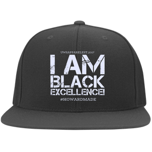 I AM BLACK EXCELLENCE Flat Bill Twill Flexfit Cap