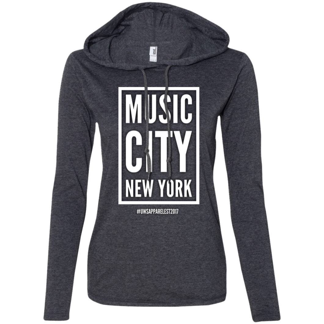 MUSIC CITY NEW YORK Ladies' LS T-Shirt Hoodie