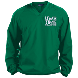 UWS TIME COLLECTION (White print) Pullover V-Neck Windshirt