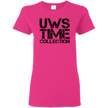 Load image into Gallery viewer, UWS Time Collection logo! Black print Ladies T-Shirt