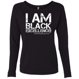I AM BLACK EXCELLENCE Ladies' French Terry Scoop